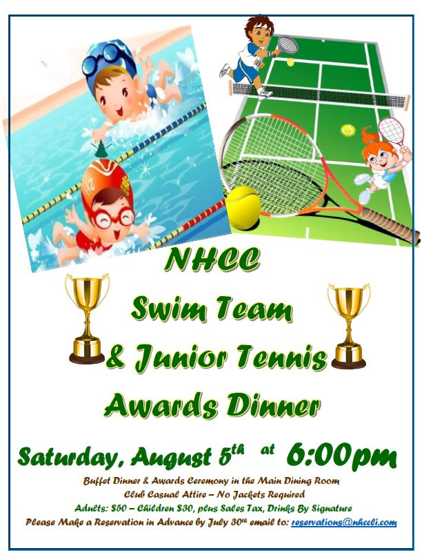 swim tennis kids awards night